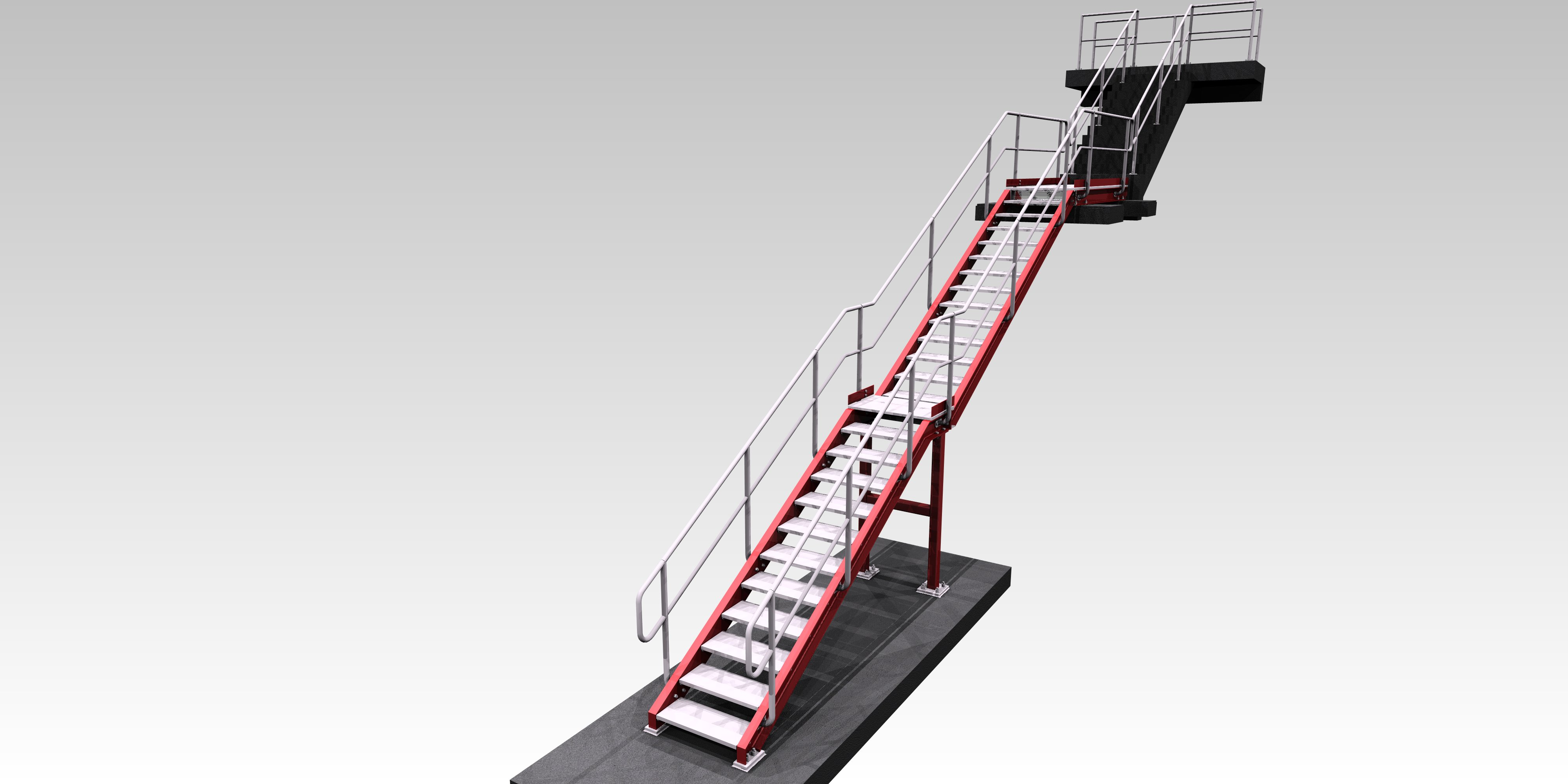 staircase detailing tekla