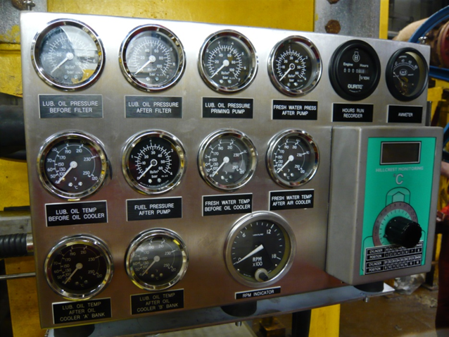Engine gauge panels created with your needs and engine room layout in mind.