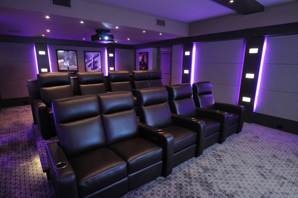 Auralex theater interiors